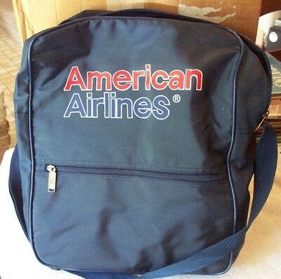 Vintage American Airlines Blue Nylon Tote Bag New, Never Used