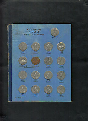 1922 - 1960 Canada 5 Cents Nickels Coin Collection Of 43 In Album