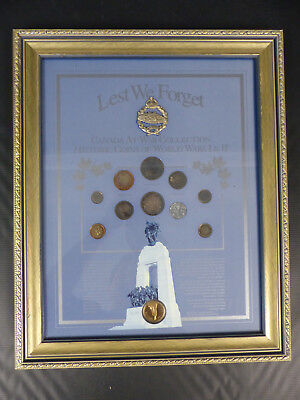 1914-45 Ww1 & Ww2 Canadian At War Coin Framed Collection