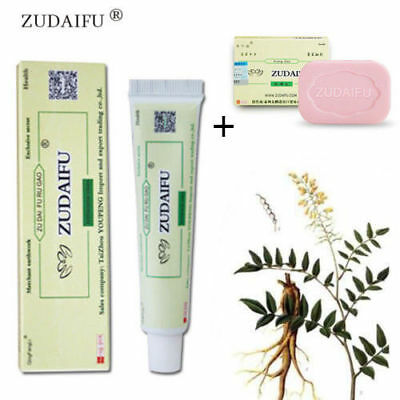 Zudaifu antibacterial Psoriasis Eczema Cream Massage Plus Zudaifu Herbal Soap