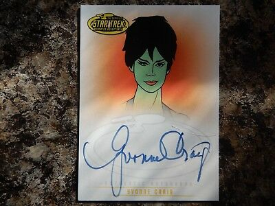 star trek the animated series yvonne graig autograph card