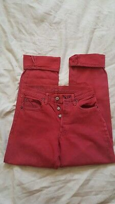 Levis 501 jeans Red Selvedge 28 Waist vintage