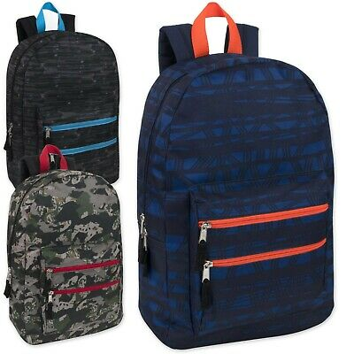 NEW Classic 18 Inch Backpacks Bulk Wholesale Lot Case Pack 24 (4 Colors)