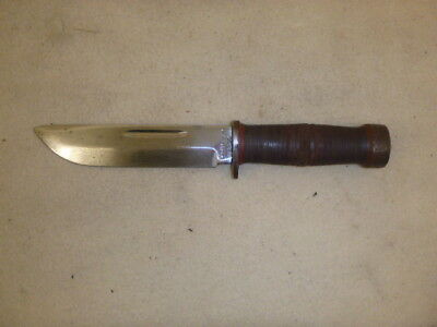 "Nice Ww 2 Us Cattaraugus 225Q Combat Knife With 6"" Bright Blade"