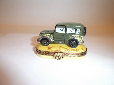 Peint main Limoges Trinket-Land Cruiser