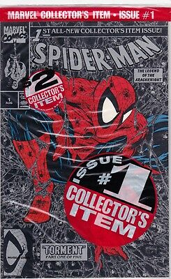 Marvel Comic Spider-Man #1 Silver Factory Sealed Collectors Issue #70004-7 Br2