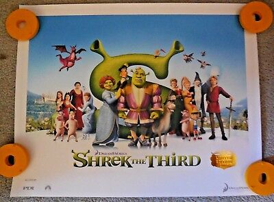 2007 SHREK THE THIRD Dreamworks PRINT POSTER Limited Edition #661 of 2840 COA