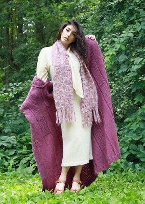 ANANGORA SWEATER DRESS with MOHAIR SCARF and MOHAIR SWEATER COAT