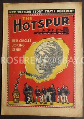1946 The HOTSPUR  with Invisible Joking Genie Cover - No 551 Sept 21st
