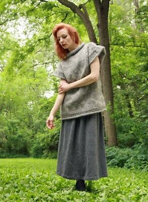 BIG THICK WOOL SWEATER with LAMBSWOOL SKIRT