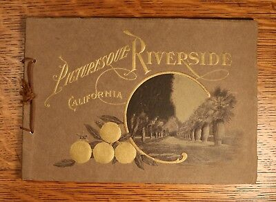 Antique Riverside California Souvenir Photo Book - Awesome Content