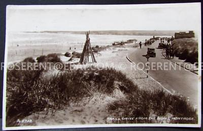 1949 Montrose - Trail Drive from the Bents - Argyll -  Real Photo Postcard