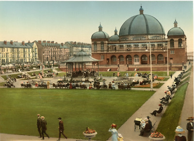 P.Z. Angleterre, Rhyl, Pavilion and Gardens  Vintage photochrome, England phot