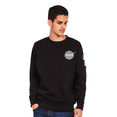 Alpha Industries - Space Shuttle Sweater Black Pullover Rundhals