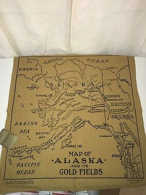 New With Tags Filson Made In Usa Limited Edition Alaska Gold Fields Map Bandana