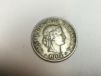 SWITERLAND 1904 10 Rappen coin nice condition