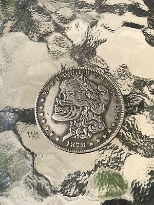 Hobo Skull Morgan Dollar Coin