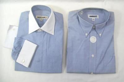 Lot of 2 Pronto Uomo and Joseph & Feiss Men's Dress Shirts Button Up 15.5 34/35