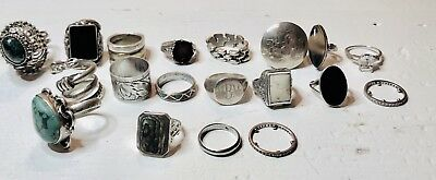 Vintage Ring ALL STERLING SILVER 925 Various Sizes white gold engage MEXICO 24