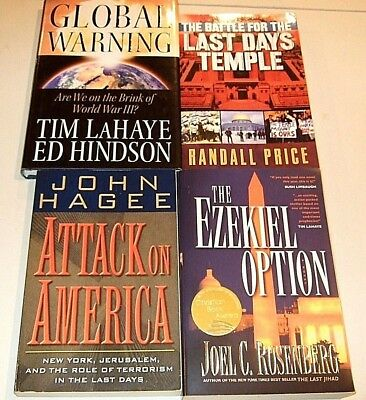 Lot of 4 Christian Based Books About The End Of This World by Various Authors