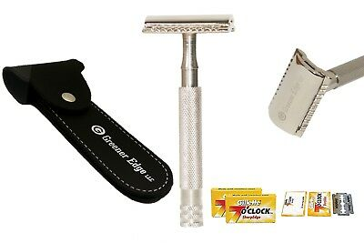 10 BLADES+ VINTAGE CLASSIC MEN's TRADITIONAL DOUBLE EDGE SHAVING SAFETY RAZOR