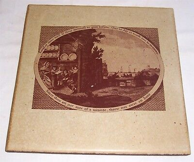 "Vintage 11.75"" Franciscan Terra Floor Tile Scenery Interpace, One Today Legend"