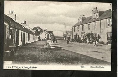 MCR Early Postcard, Carsphairn Village, Dumfries and Galloway shows Clachan Inn