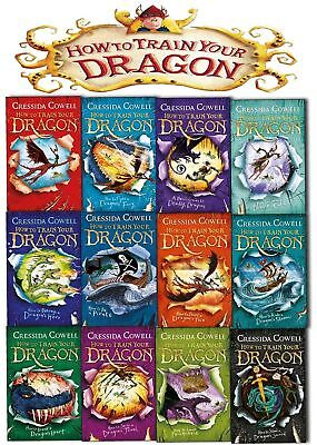 Cressida Cowell Collection How to train your Dragon Series 12 Books Set NEW