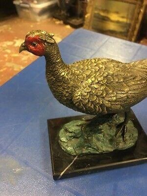 Large cold painted bronze game bird , Possibly Austrian