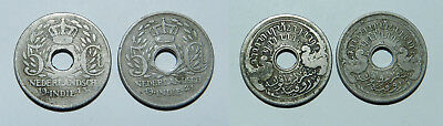 2 X Netherlands East Indies  5 Cents 1913 & 1921