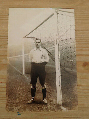 Old postcard Teddy Davison Sheffield Wednesday goalkeeper - believe to be repros