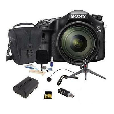 Sony Alpha A77II DSLR Camera with 16-50MM Lens Bundle. Value Kit with Acc