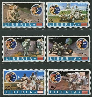Apollo 17 Moon Mission 1972 Issued 1973 - Mnh Set Of Six (Bl351)