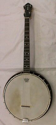 Vintage May-Bell Banjo with Case + Case Cord Books (0281)