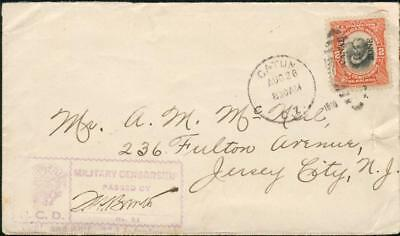 Panama Canal Zone rar censor cover from 1916 to USAav50