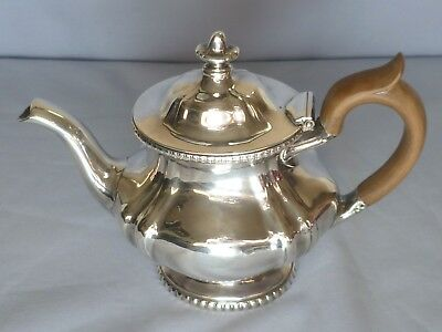 Nice quality classic 14oz Silver soldered small  tea pot - R.Wallace