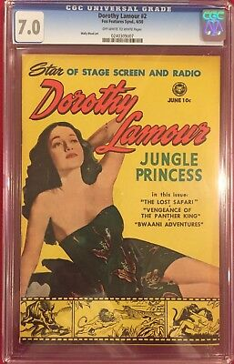 DOROTHY LAMOUR #2 CGC 7.0 Photo Cover, Wally Wood Art 1950