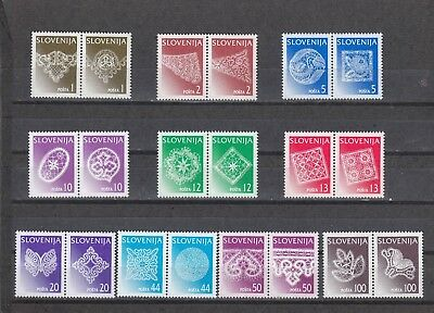 Slovenia - Sg301-326 Mnh 1996 Traditional Lace Designs From Idria
