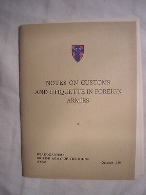 British Army BAOR Germany Foreign Military Guide NATO Cold War History Manual