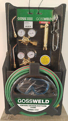 Goss Welding Brazing Cutting Portable Oxygen Acetylene Torch Kit KA-725-M12P