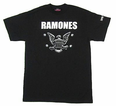 AMPLIFIED RAMONES 1974 Eagle Logo Hey Ho Let/'s Go Star Vintage Löcher T-Shirt L
