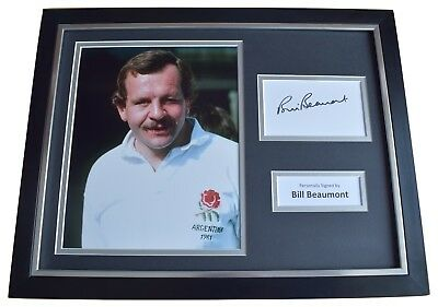 Bill Beaumont Signed Framed Photo Autograph 16x12 display England Rugby  COA