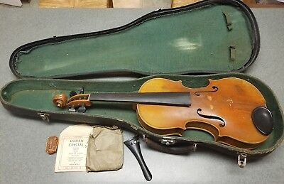 Antique Late 1800's Germany Antonius Stradivarius Cremonensis Violin  4/4 Full