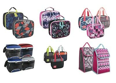 Bulk Wholesale Case Pack of 24 Lunch Boxes/Cooler Bags for Boys Girls & Adults