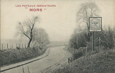 "Les Poteaux Indicateurs ""Mors"" - (Motor related card)"