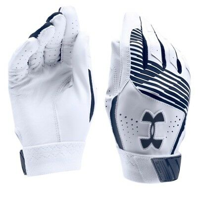 Under Armour CLEAN UP Batting Gloves NAVY BLUE 1299531 410 Youth LARGE FastShip