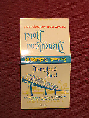 *** Disneyland Hotel Matchbook Cover - Nice Monorail Graphic!  Great shape!