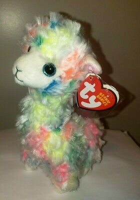 264d3605ce2 TY BEANIE BABIES ~ LOLA the Tie Dyed Llama (6 Inch) NEW MWMT ...