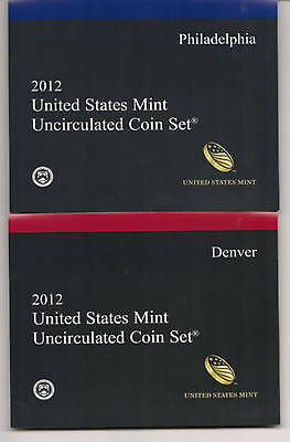 2012 Unicirculated P & D US Mint Set 28 Coins in Original Mint Packaging