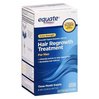 Equate - Hair Regrowth Treatment for Men with Minoxidil 5% Extra Strength, 3...